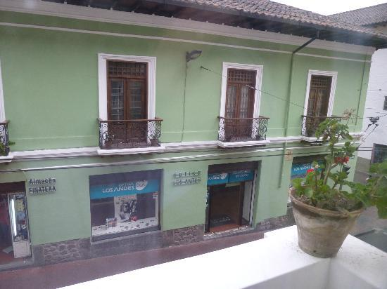 Hostal Quito Cultural: View from my window