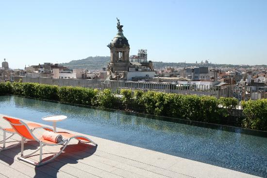Mandarin Oriental, Barcelona: Barcelona city view from top of the hotel
