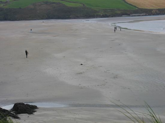 Inchydoney Beach: view to left from bluff overlook beach