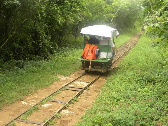 Cenotes: horse drawn rail carts