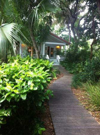 The Moorings Village: path to our cottage Sifca