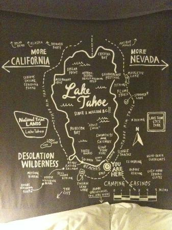 Basecamp South Lake Tahoe: Witty Wall Art/Headboard!