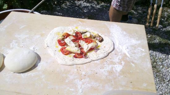 B&B Il Ruscello: Fresh Pizza
