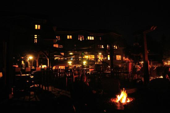 Lodge at Whitefish Lake: night time fire pit
