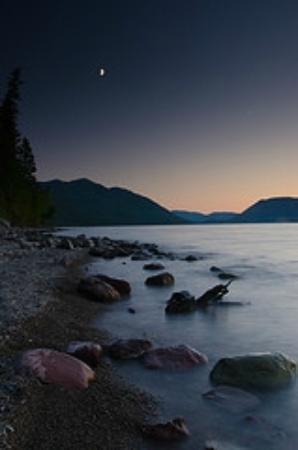 Glacier Photo: Lake McDonald Moonrise