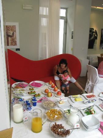 Villa Feniks: Buffet colazione