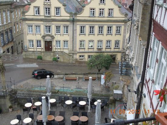 Hotel Restaurant Goldener Adler : View from hotel window