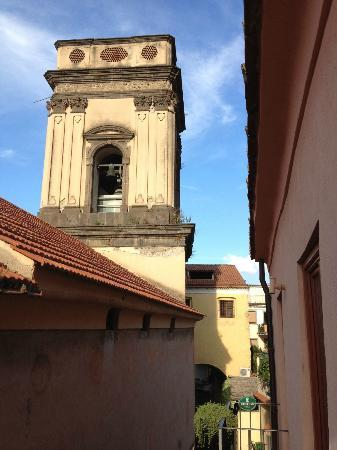 Hotel Rivoli Sorrento: View from our window, the bell tower.