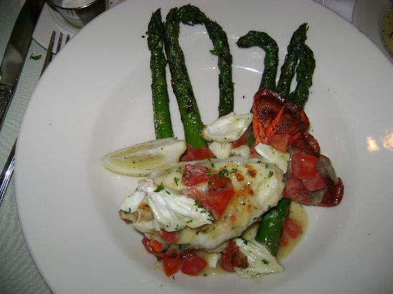 Germano's Restaurant and Catering: lobster tail and asparagus