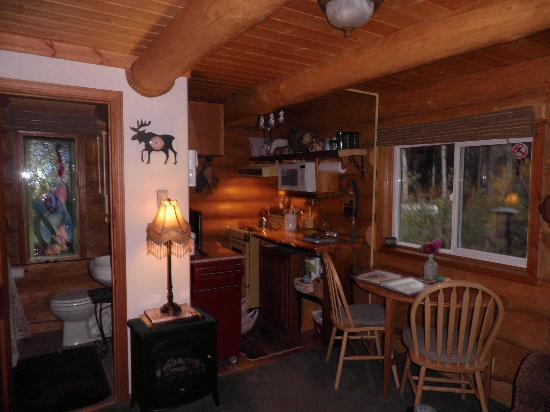 Riverbend Log Cabins & Cottage Rentals: Downstairs Sourdough Cabin