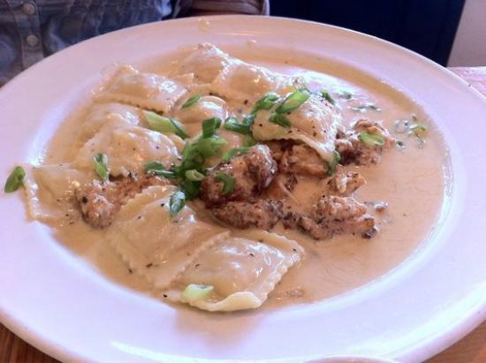 Fritto Misto: Spicy Shrimp Ravioli with Cajun Seared Chicken