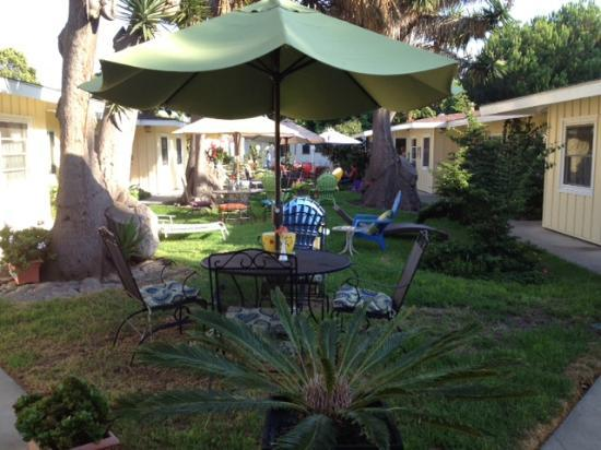 Beach House Inn & Apartments: The relaxing, comfortable courtyard