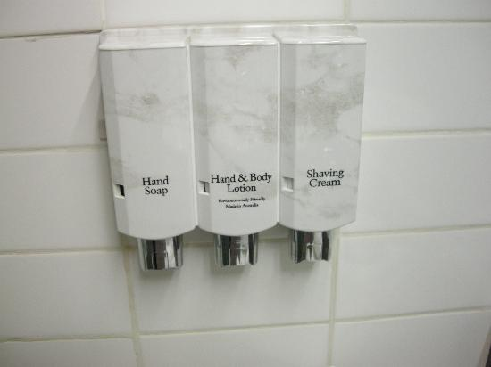Quality Hotel Bathurst: I hate these dispensers - another set of them in the shower