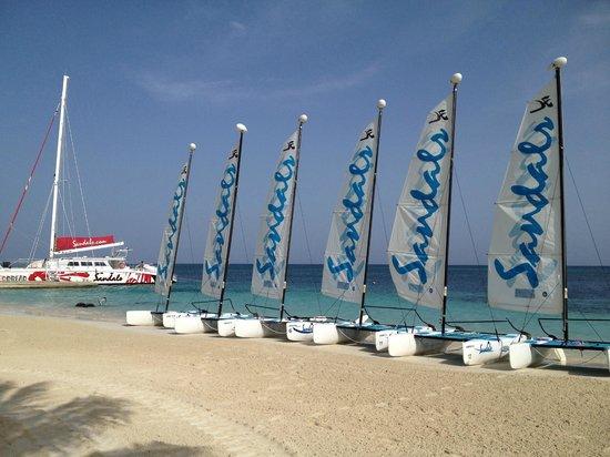 Sandals Montego Bay:                   Main beach