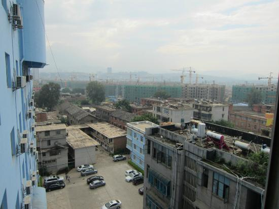 Kaiyuan, China: view from room window