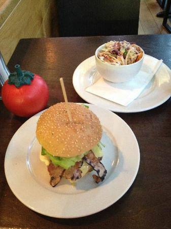 """Gourmet Burger Kitchen: The gigantic """"small burger"""" with side of 'home slaw'"""