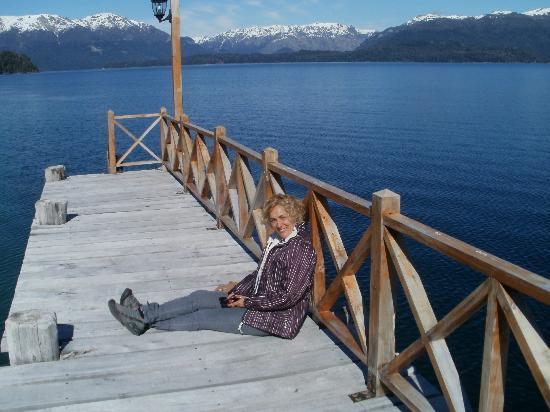 La Posada Hosteria & Spa: muelle en el lago