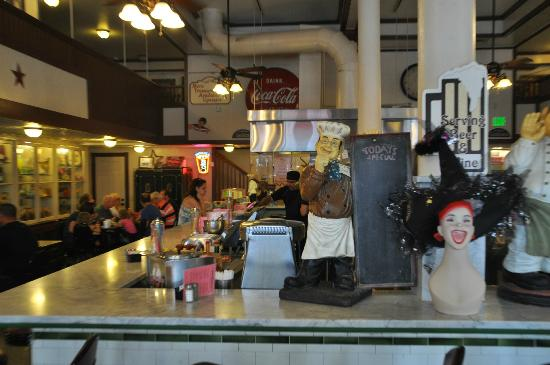 Star Drug Store: The soda fountain