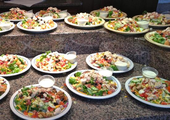 Frederickson Manor: Our lunch of Cobb Salads for our group