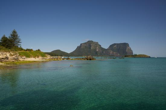 Arajilla Retreat - Lord Howe Island: View of the lagoon at Lord Howe Island (not from the hotel)