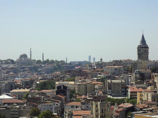 Witt İstanbul Hotel: More View from Room 61 (Trip Advisor cropped out Galata Tower)