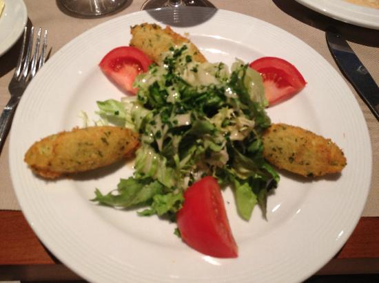Georges Opera: Cod fritter starter