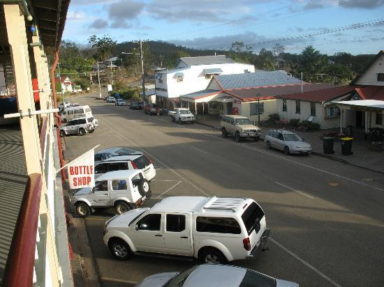 Royal Hotel Herberton: View from verandah onto Herberton main street