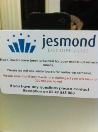 Jesmond Executive Villas : be careful