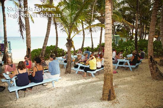 Sivananda Ashram Yoga Retreat: Breakfast on the beach