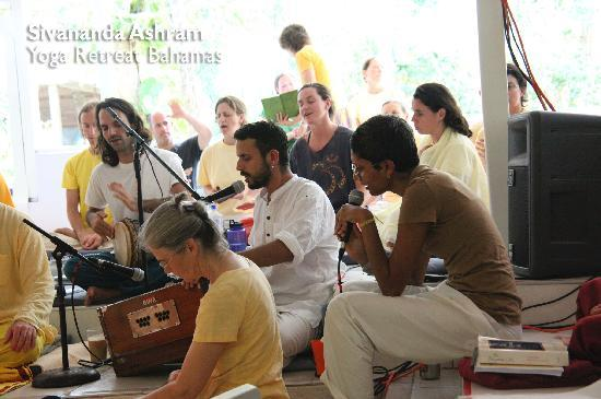 Sivananda Ashram Yoga Retreat: Kirtan (devotional chanting)