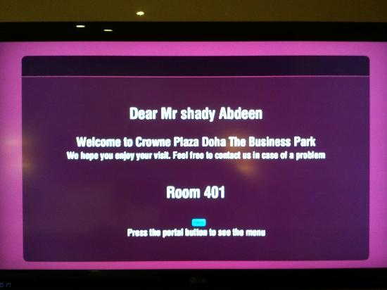 Crowne Plaza Doha - The Business Park: on the big LCD