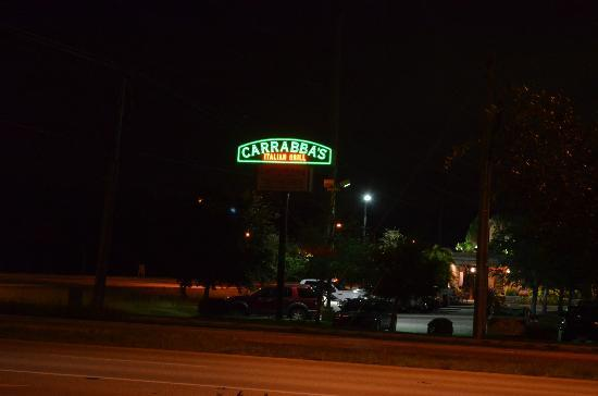 Carrabba's Italian Grill: Night view.
