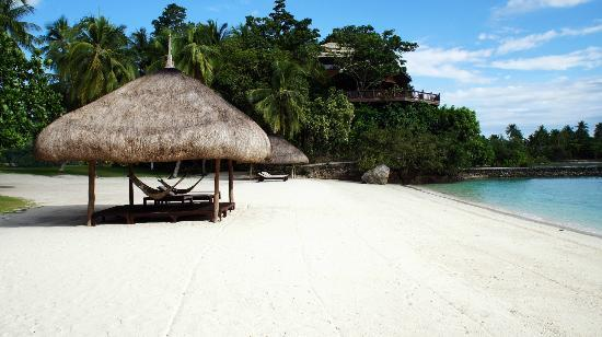 Pearl Farm Beach Resort: private beach in the island