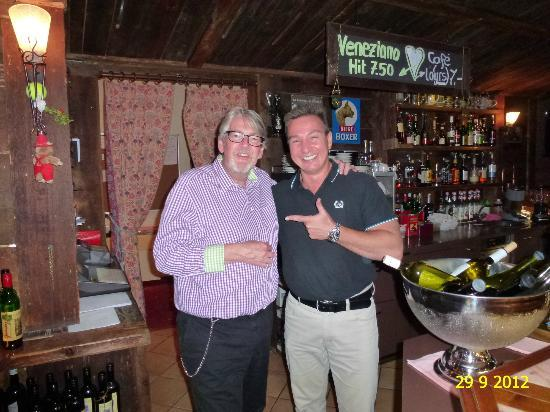 Helvetia Intergolf - Hotel & Apparthotel: WITH THE GREAT OWNER, MR URS BENZ, AT THE BAR OF HOTEL HELVETIA INTERGOLF, CRANS-MONTANA.