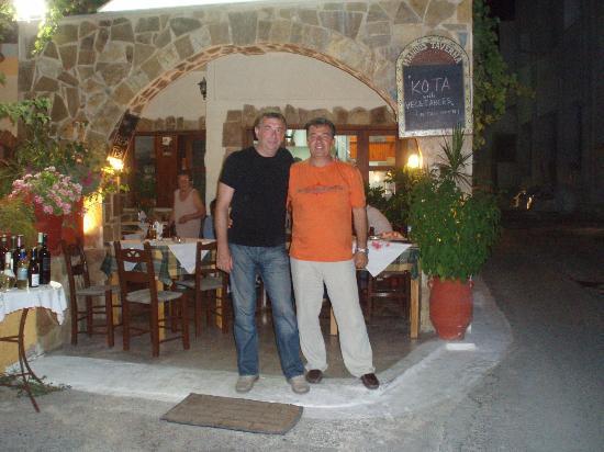 Manolis Taverna Restaurant: manolis taverna summer 2011 agia marina old village