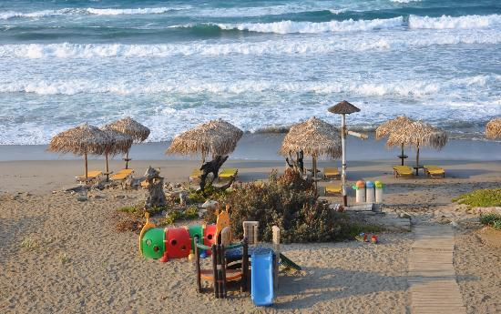 Rania Beach Hotel: zicht vanaf het balkon van de studio
