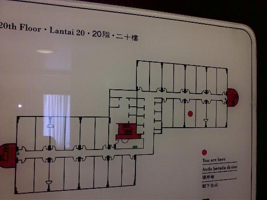 Shangri-La Hotel Jakarta: floor plan