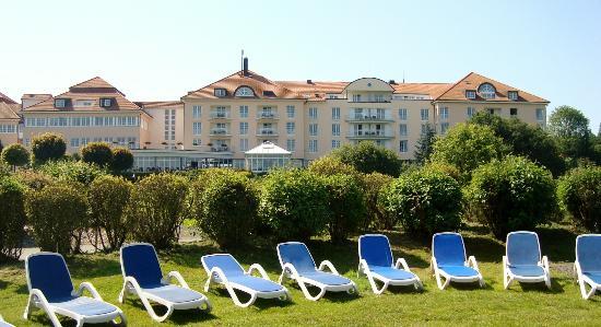 Lindner Hotel & Sporting Club Wiesensee: Vanuit de luie stoel uitzicht op de Wiesensee