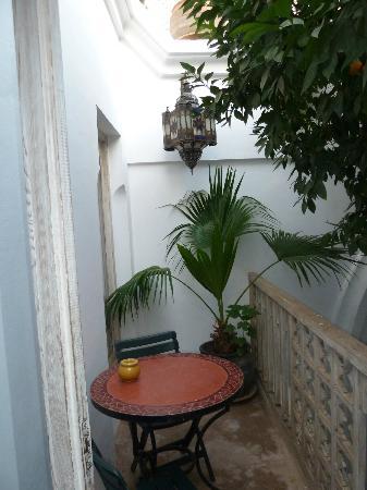 Riad Safa: Petite terrasse séparée