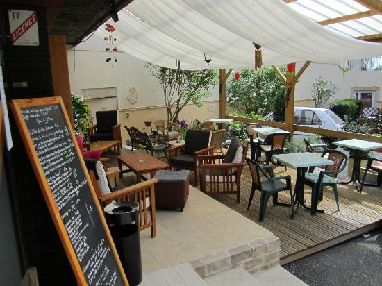 Hotel La Folie: Terrasse bar