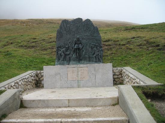 Sella Ronda: Denkmal für Fausto Coppi