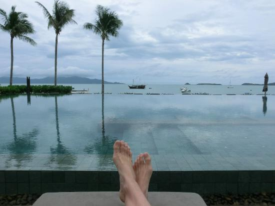 Hansar Samui Resort: View from the sunbeds
