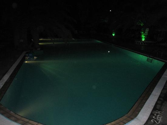 Meltemi Village: Pool area in the night