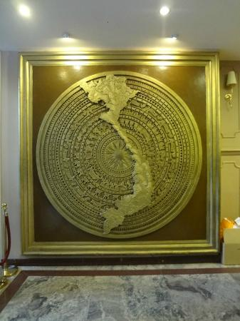 A&Em Signature Hotel: the MAP of Vietnam. can be found at the lobby