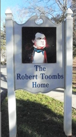 Robert Toombs House State Historic Site sign, Washington, GA