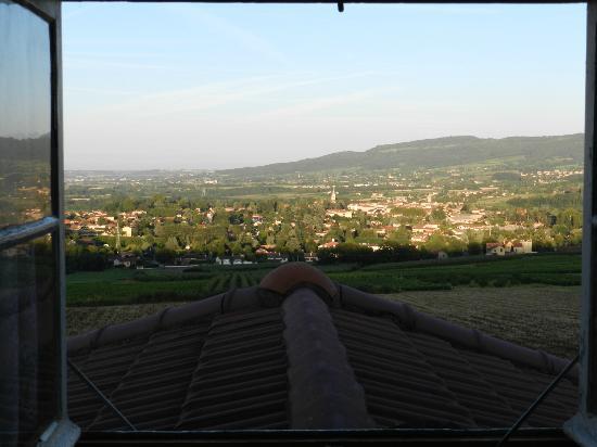 Domaine Mont Saint Jean: uitzicht vanuit 2-persoonslaapkamer