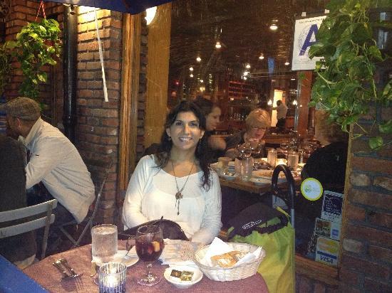 Buona Notte: Enjoying dinner.