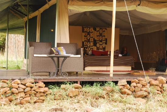 Kicheche Valley Camp: Guest Tent deck