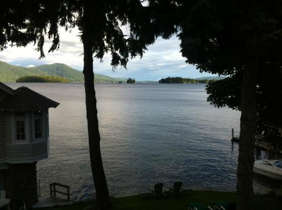Boathouse Bed and Breakfast A Lake Castle Estate on Lake George: View from Mason's Adirondack Suite
