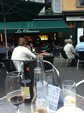 La Clemence: outside at 7 pm